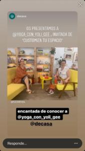 Resultado imagen Instagram DeCasa para entrevista APYM con YoliGe